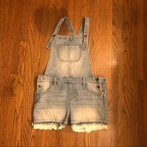 Cat and Jack Lace Short Overalls